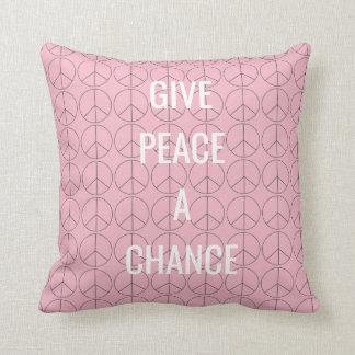Geben Sie Frieden ein Möglichkeits-Kissen Kissen