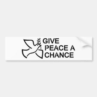 Geben Sie Frieden eine Möglichkeit Autoaufkleber