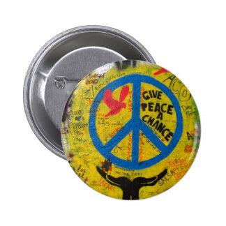 Geben Sie Frieden eine Möglichkeit Anstecknadelbutton