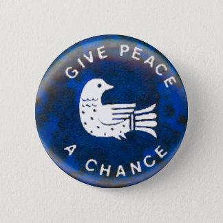 Geben Sie Frieden - Knopf Runder Button 5,7 Cm