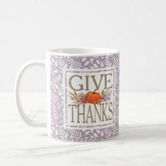 Geben Sie Herbst-Ernte des Dank-| Kaffeetasse