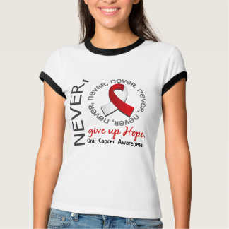 Geben Sie Hoffnung Mundkrebs nie auf T-Shirt