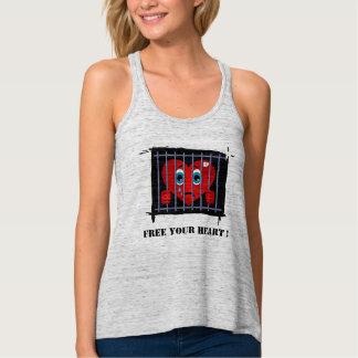 Geben Sie Ihr Herz Trägershirt frei Tank Top