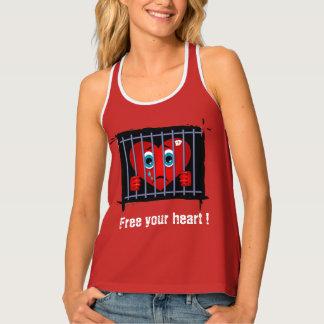 Geben Sie Ihr Herz Trägershirt frei Tanktop