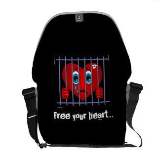 Geben Sie Ihre Herzbotetasche frei Kuriertasche