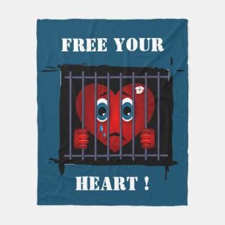 Geben Sie Ihre Herzdecke frei Fleecedecke