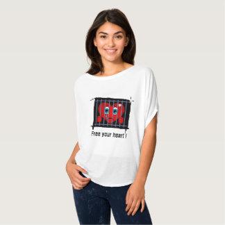 Geben Sie Ihre Herzkreisspitze frei T-Shirt