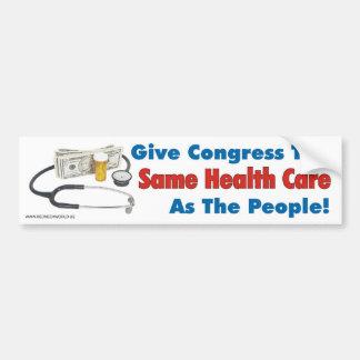 Geben Sie Kongreß das gleiche Gesundheitswesen wie Autoaufkleber
