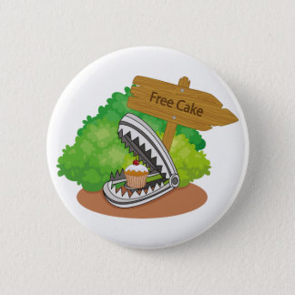 Geben Sie Kuchen frei Runder Button 5,7 Cm