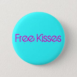 Geben Sie Küsse frei Runder Button 5,7 Cm