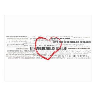 Geben Sie Liebe Inspirational Postkarte