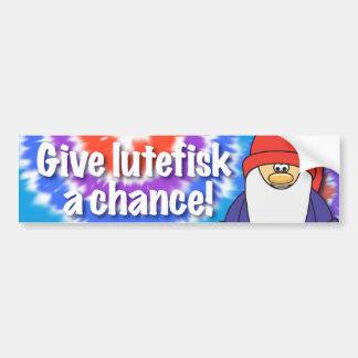 Geben Sie Lutefisk einen Autoaufkleber