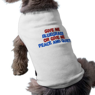 Geben Sie mir Bluegrass oder geben Sie mir Frieden Ärmelfreies Hunde-Shirt
