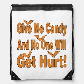 Geben Sie mir Süßigkeit, die niemand verletzte Sportbeutel