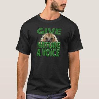 GEBEN Sie NATUR einen STIMMENIgel T-Shirt