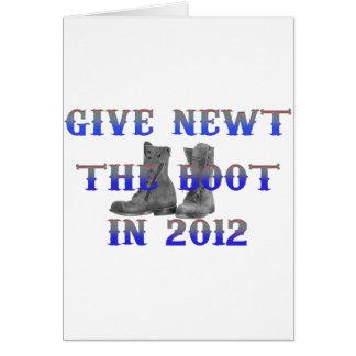 Geben Sie Newt den Stiefel Karte