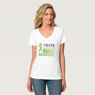 Geben Sie nie auf: TBI Überlebender T-Shirt