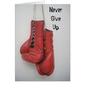 Geben Sie nie, Boxhandschuhe KARTE auf