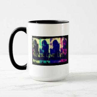Geben Sie nie Kaffee-Tasse Digitial Kunst auf Tasse
