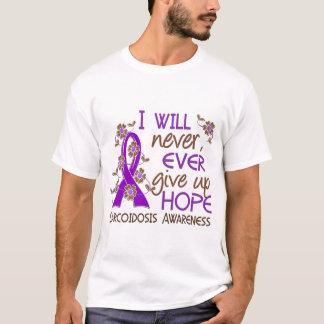 Geben Sie nie Sarkoidosis der Hoffnungs-4 auf T-Shirt