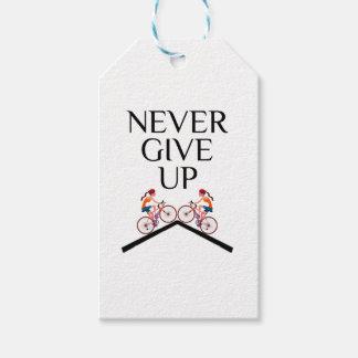 Geben Sie nie überhaupt behalten oben das Gehen Geschenkanhänger