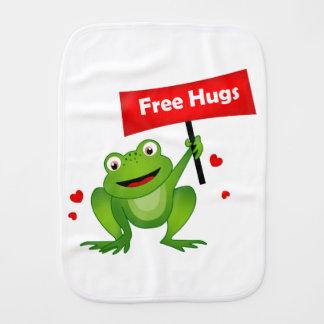 geben Sie niedlichen Frosch der Umarmungen frei Baby Spucktuch