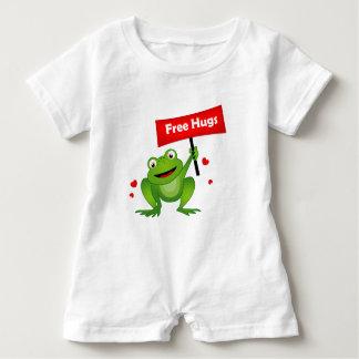 geben Sie niedlichen Frosch der Umarmungen frei Baby Strampler