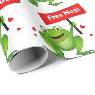 geben Sie niedlichen Frosch der Umarmungen frei Geschenkpapier