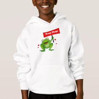 geben Sie niedlichen Frosch der Umarmungen frei Hoodie