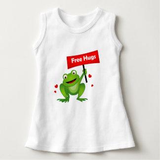 geben Sie niedlichen Frosch der Umarmungen frei Kleid