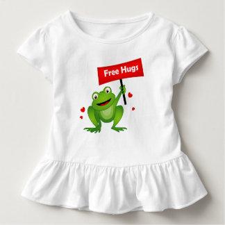 geben Sie niedlichen Frosch der Umarmungen frei Kleinkind T-shirt
