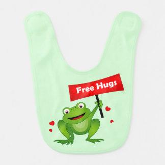 geben Sie niedlichen Frosch der Umarmungen frei Lätzchen