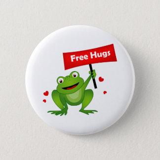 geben Sie niedlichen Frosch der Umarmungen frei Runder Button 5,7 Cm
