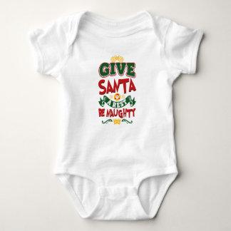 Geben Sie Sankt, die eine Erholung… frech ist! Baby Strampler