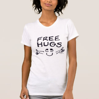Geben Sie Umarmungs-niedliches Cartoon-T-Shirt T-Shirt