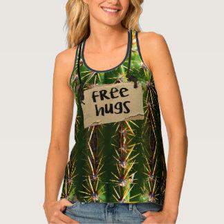 Geben Sie Umarmungs-stacheligen Kaktus frei Tanktop