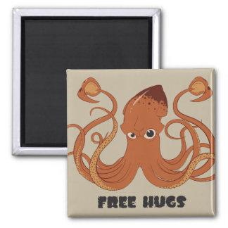 Geben Sie Umarmungs-Tintenfisch-Magneten frei Quadratischer Magnet