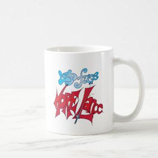Geben Sie weniger, mehr Lanze frei Kaffeetasse