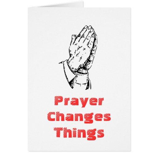 Gebet ändert Sachen Karten