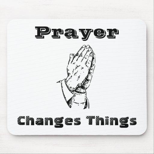 Gebet ändert Sachen Mousepad