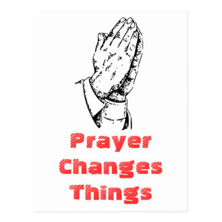 Gebet ändert Sachen Postkarte