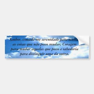 Gebet der auf die person abgestimmt und übersetzt  autoaufkleber