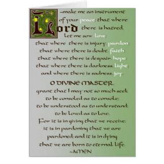 Gebet der St- Franciskatholisch-Karte Grußkarte