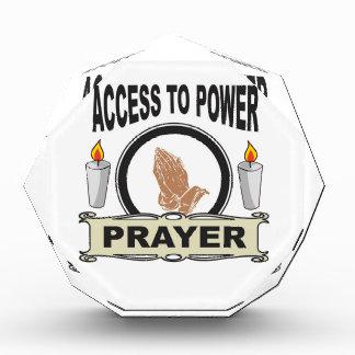 Gebet der Zugang zum Power Acryl Auszeichnung