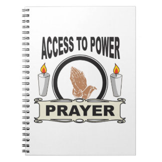 Gebet der Zugang zum Power Notizblock