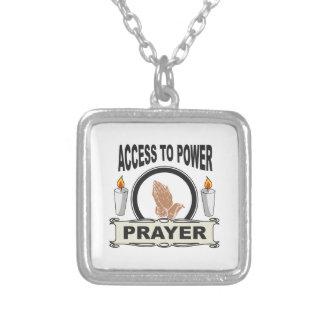 Gebet der Zugang zum Power Versilberte Kette