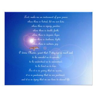 Gebet des Franziskus-Plakats Fotodruck