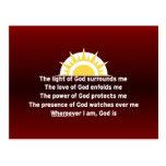 Gebet des Schutzes Postkarte