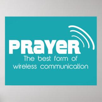 Gebet die beste Form des Kommunikations-Plakats Plakate