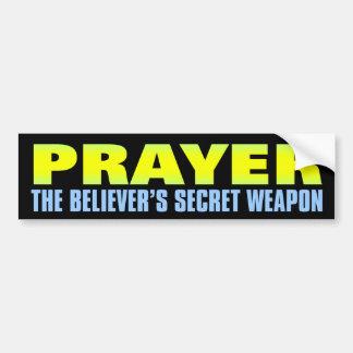 Gebet: Die geheime Waffe des Gläubigers Autoaufkleber